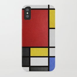 Mondrian in a Leather-Style iPhone Case