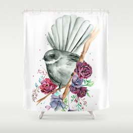 Floral Fantail Shower Curtain