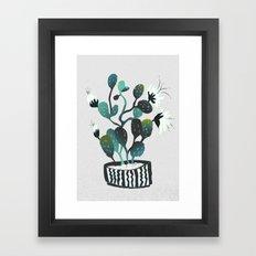 Noir Cactus Framed Art Print