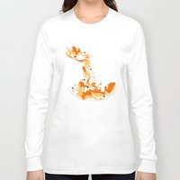 physics Long Sleeve T-shirts featuring Liquid Physics Corgis by Anya McNaughton