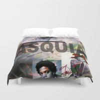 basquiat Duvet Covers featuring Basquiat by Andrew Spangler