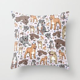 Cute Pitbulls Throw Pillow