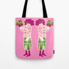 Floral Coat Pink Tote Bag