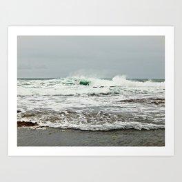 Sea Breaks on the Tidal Shelf Art Print