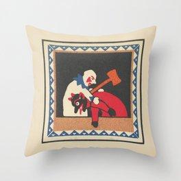 Kasperltheater Throw Pillow