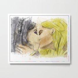 Deanoru: a surprise kiss Metal Print