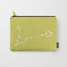 Pisces Zodiac Constellation - Vibrant Green Carry-All Pouch