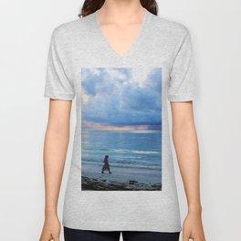 Mermaids Cove sea storm Unisex V-Neck