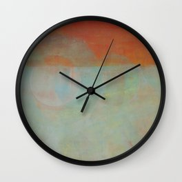 the green circle Wall Clock
