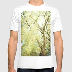 Willow Tree White MEDIUM Mens Fitted Tee