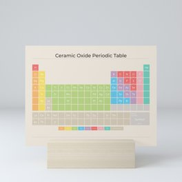 Ceramic Oxide Periodic Table in Muted on Sand Mini Art Print
