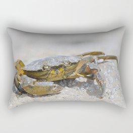Macro crab on a barnacle covered rock Rectangular Pillow