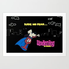 Graffiti Underdog Art Print