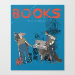 BOOKS FOR SCHOOLS Canvas Print