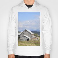 vermont Hoodies featuring Vermont Barn by Ashley Callan