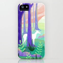 Galgo in a Forest iPhone Case