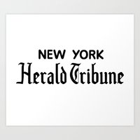 godard Art Prints featuring New York Herald Tribune! Breathless / a bout de souffle by AdrienneD