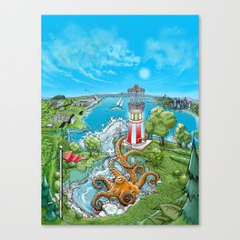 Disc Golf - Lake Monster Canvas Print