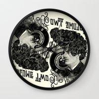 rockabilly Wall Clocks featuring Rockabilly by DIVIDUS