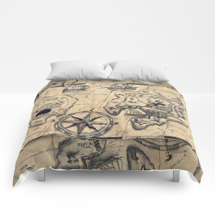 Old Nautical Map Comforters