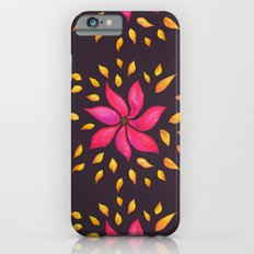 Whimsical Watercolor Floral Pattern In Pink And Purple Slim Case iPhone 6s
