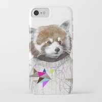 kris tate iPhone & iPod Cases featuring RED PANDA by Jamie Mitchell and Kris Tate by Kris Tate