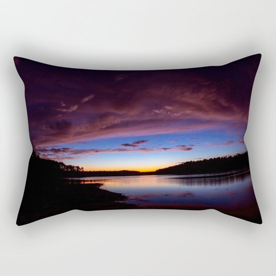 Sunset Over The Lake Rectangular Pillow