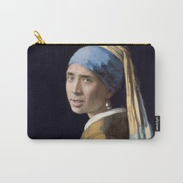 The Nic With the Pearl Earring (Nicholas Cage Face Swap) Carry-All Pouch