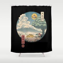 Neighbor's Ukiyo e Shower Curtain