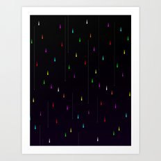 Electric Rain Art Print