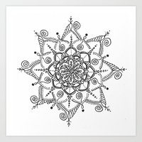 Black & White Mandala 13 Art Print