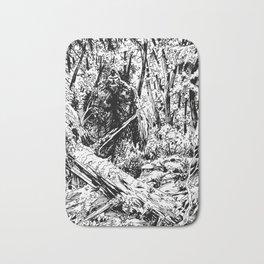 Sasquatch is camouflaged Bath Mat