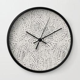 watercolor black dots Wall Clock
