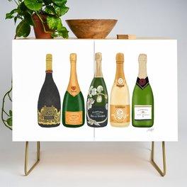 Champagne Bottles Credenza