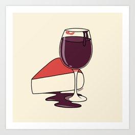 Wine & Cheese Art Print