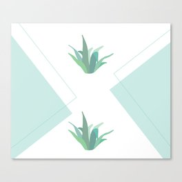 diamond succulant Canvas Print