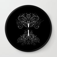 gondor Wall Clocks featuring The White Tree by Danny Schlitz