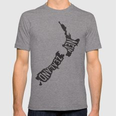NEW ZEALAND X-LARGE Tri-Grey Mens Fitted Tee