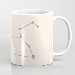 Leo Zodiac Constellation Neutral Rose Coffee Mug