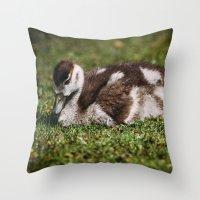 ryan gosling Throw Pillows featuring Gosling by Pati Designs