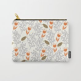 floral pattern (birds) Carry-All Pouch