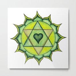 HEART CHAKRA by Jaen Metal Print