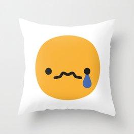 Emojis: Sad Throw Pillow