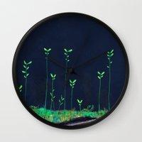 kodama Wall Clocks featuring Kodama by Jose Campa