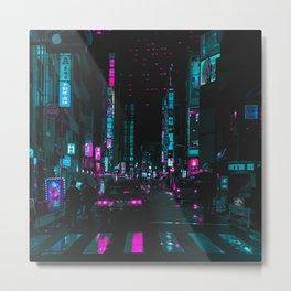 cyberpunk lost street Metal Print