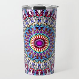 Fantasy Flower Garden Mandala Travel Mug