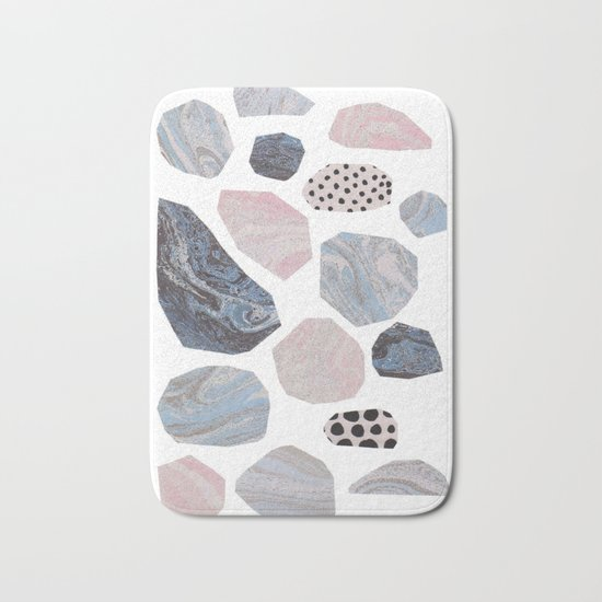 Marble stones Bath Mat