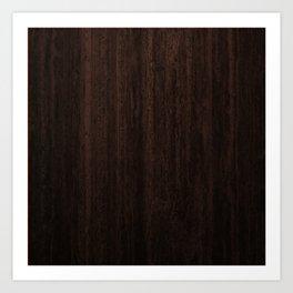 Very Dark Coffee Table Wood Texture Kunstdrucke