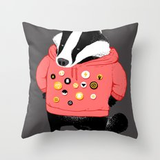 Badgest Throw Pillow