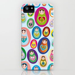 Russian matryoshka nesting doll iPhone Case